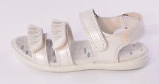 Ecco Tilda Girls White Pearlised Leather Sandals UK 1 EU 33 US 2-2.5