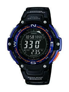 Casio-Men-039-s-Quartz-Compass-Thermometer-Black-Resin-47-5mm-Watch-SGW100-2B