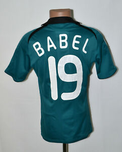 LIVERPOOL ENGLAND 2008/2009 THIRD FOOTBALL SHIRT ADIDAS BABEL #19 SIZE S ADULT