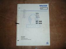 Wacker Neuson Rt 560 Trench Roller Compactor Parts Catalog Manual 7642