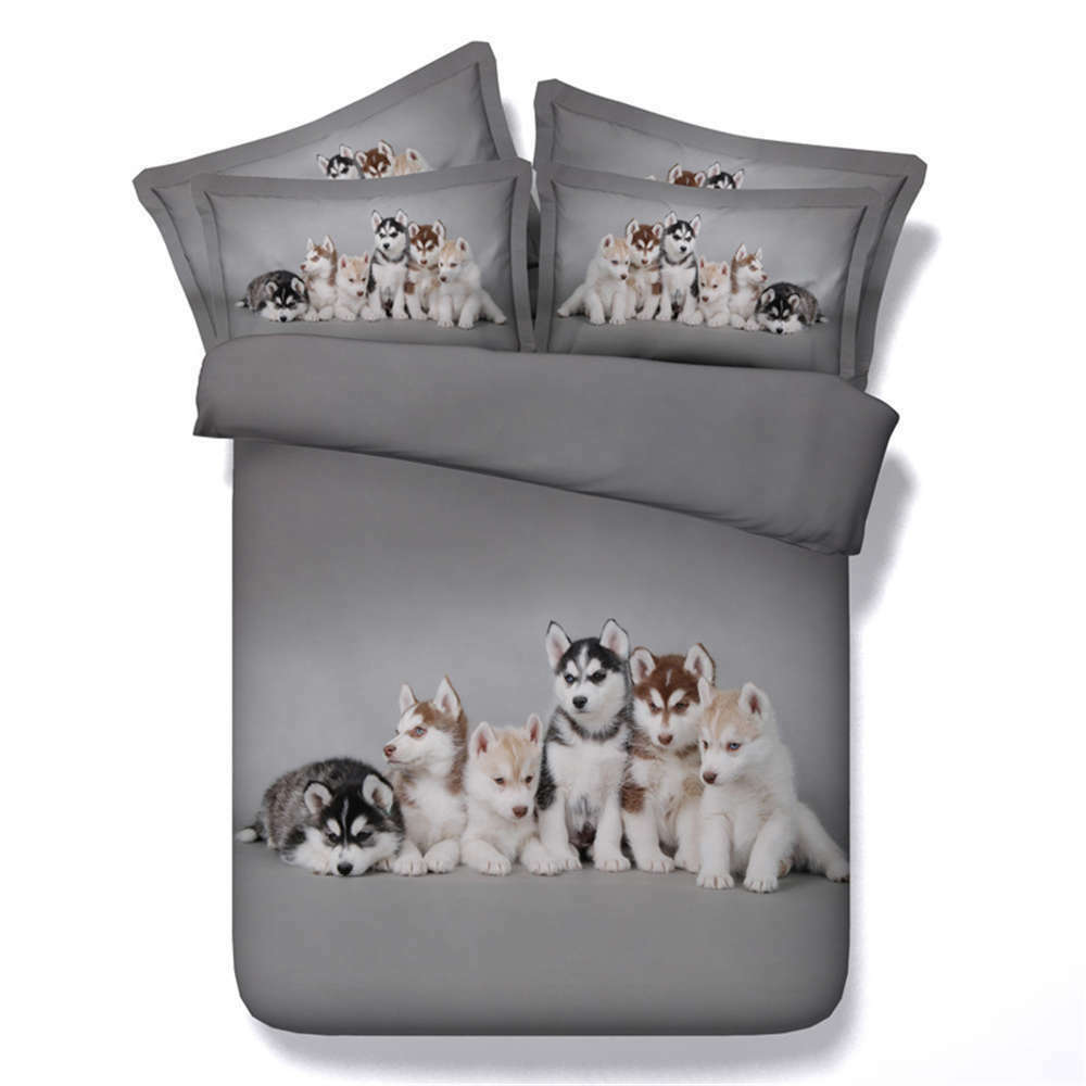 Dog Watch Ground 3D Printing Duvet Quilt Doona Covers Pillow Case Bedding Sets