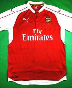 Puma ARSENAL FC 2015 16 L Home Soccer Jersey Football Shirt AFC ... 6ff2ade04