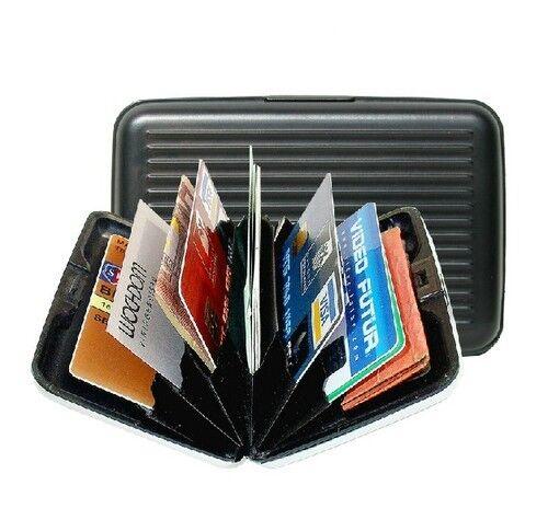 Neuf Noir en plastique résistante nom d/'entreprise de crédit ID Licence Card Case Holder 174
