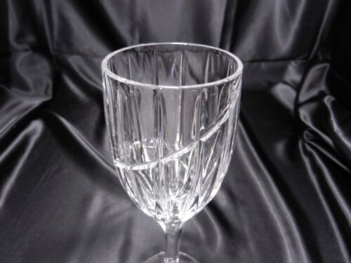 """Mikasa Uptown Water Goblet Clear Crystal 9/"""" T ca 1989-2006"""