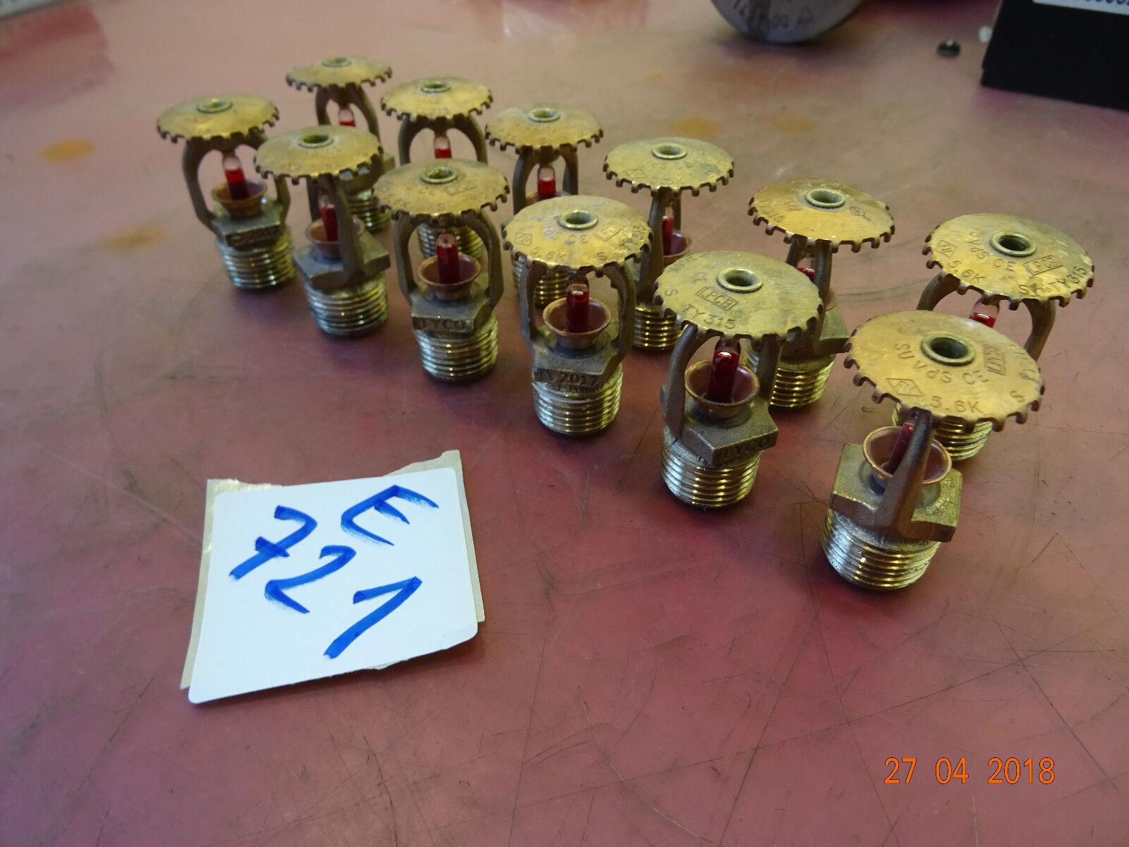 TYCO Sprinklerköpfe     GEBRAUCHT      155° F -  Rot 68°    Lösch Wasser (E721