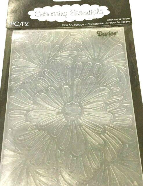 "Bold Floral 1219-111 Darice 4.23/"" X 5.75/"" Carpeta de grabación en relieve"