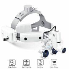 Dental 35x 420 Binocular Loupes Headband Magnifier With 5w Led Light White Us