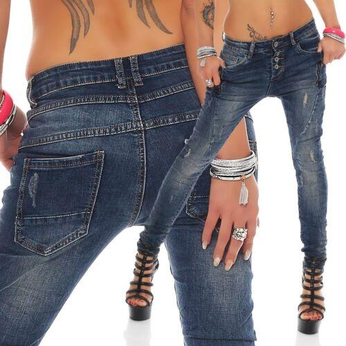 10851 Damen Jeans Röhrenjeans Damenjeans Hüftjeans Hose Skinny Röhre
