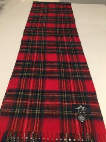 The House of Balmoral Tartan Royal Stewart Lambswool Scarf Superior Quality Warm