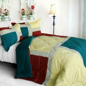 Winter-Snow-Down-Alternative-Comforter-Set-twin-queen-or-king-turquoise-red