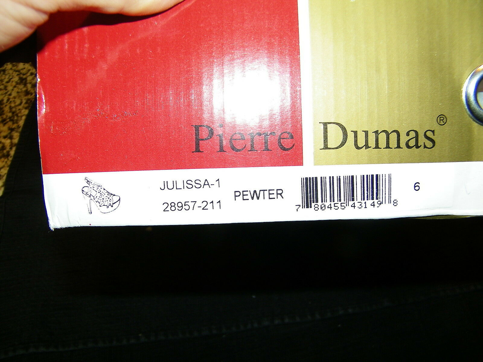 Pierre Dumas Julissa Pewter High 6m Heels Shoes NIB Size 6m High bbed12