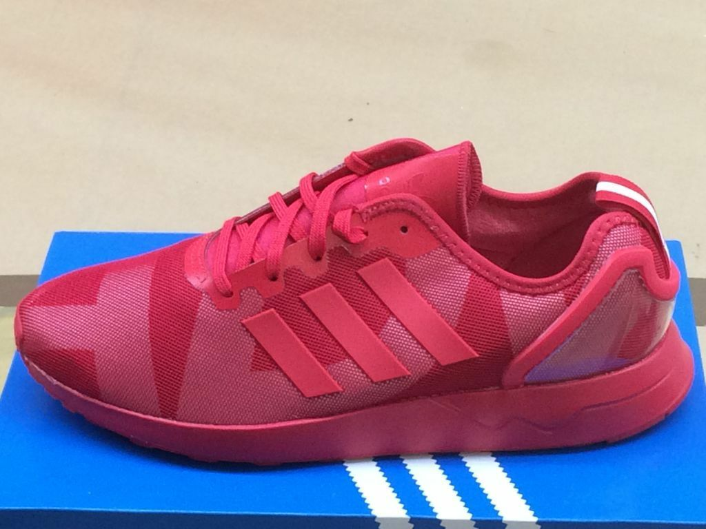 Adidas Zx Flux Adv Homme Original Chaussures paniers Rouge de Sport Neuf S80322
