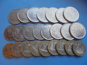 France, 2 5 & 10 Franc Monnaies Comme Indiqué, Bon état.-afficher Le Titre D'origine Nc46gnx0-08002359-324737228
