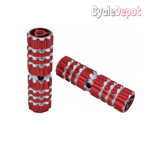 """Bicycle AIIoy Pegs 661 24//26t W=1.10/"""" I=4 1//2/"""" Red  CRUISER LOWRIDER 151548"""