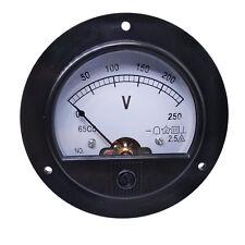 Us Stock Dc 0 250v Round Analog Volt Pointer Needle Panel Meter Voltmeter