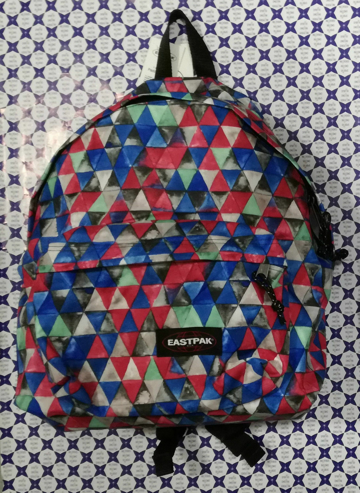 Borsa Zaino Eastpak Padded  Pak - Azzurro Fucsia Fantasia Triangoli - EK620  more affordable