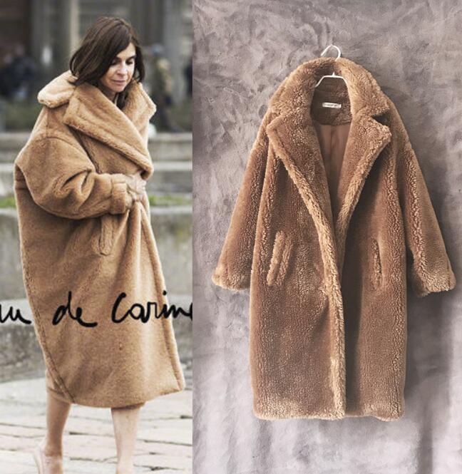2019 Luxury Women Teddy Bear Feel Oversize Oversize Oversize Faux fur Coat Short Long Winter Warm7 3f2eac