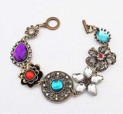 Wholesale Women Style Bracelet Gold Rhinestone Bangle Charm Cuff Girl Jewelry