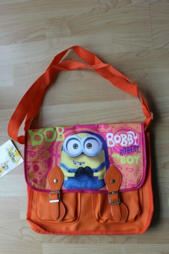 Genuine Branded Minions Movie Orange School Satchel Shoulder Messenger Bag