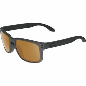 9d0af7903a Image is loading Oakley-Holbrook-Sunglasses-Bronze-Polarized-Lenses-Matte- Black-