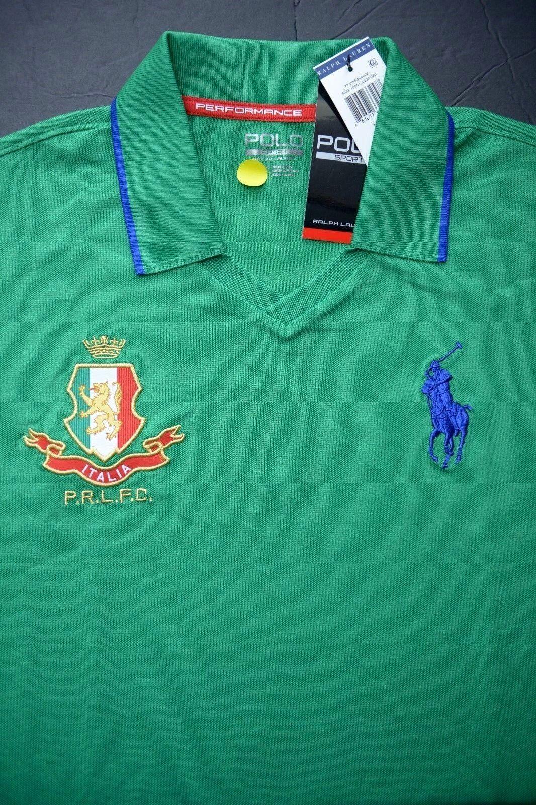 Polo Ralph Lauren Herren Italia Flaggen Aufnäher Großes Pony Grün Sport   | Fein Verarbeitet  | Sehr gelobt und vom Publikum der Verbraucher geschätzt  | Ausreichende Versorgung