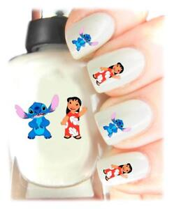 Lilo-and-stitch-Nail-Art-Decal-Stickers-easy-to-use-on-any-colour-nail-428