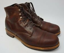 Wolverine 1000 Mile Adrian Cap Toe Brown Leather Men's Boot Size 10.5 D