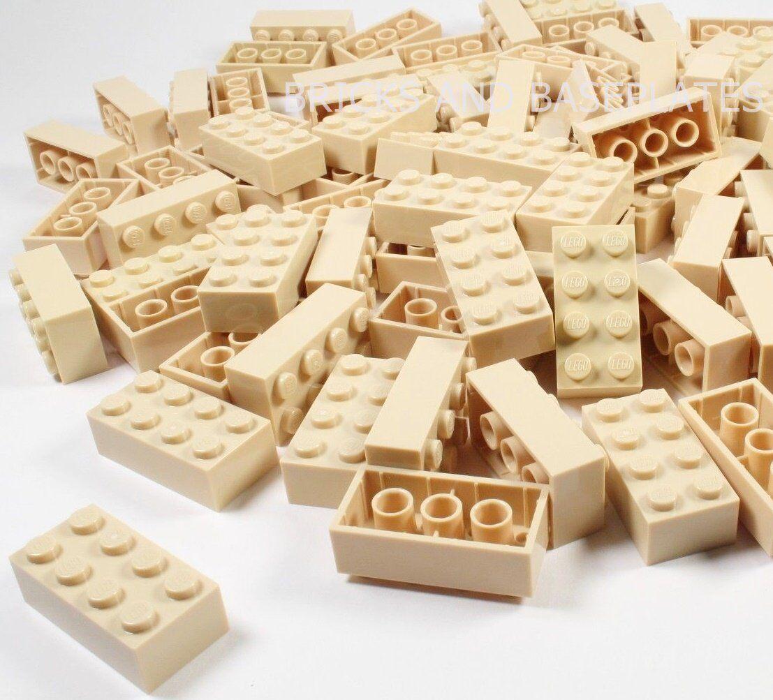 LEGO Mattoni  200 x Tan 2x4 PIN-Set da Nuovo di Zecca inviati in un sacchetto trasparente sigillati  best-seller