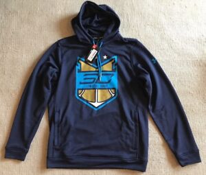 new styles 8bf5a 0c7f0 Details about Under Armour SC30 Steph Curry L Hoodie Sweatshirt I Can Do  All Things Navy C6