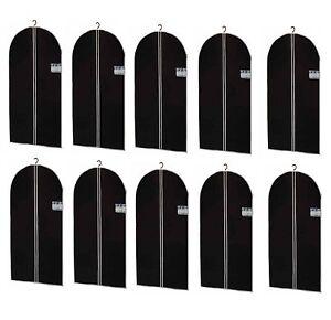 10 Housse à vêtements vêtements Housse Housse de protection vêtements des sacs en noir 150 x 60 CM  </span>