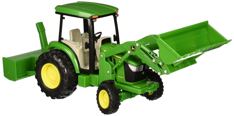 NEW John Deere Big Farm Series 4066R Tractor w Attachments, Ages 3 (LP64457)