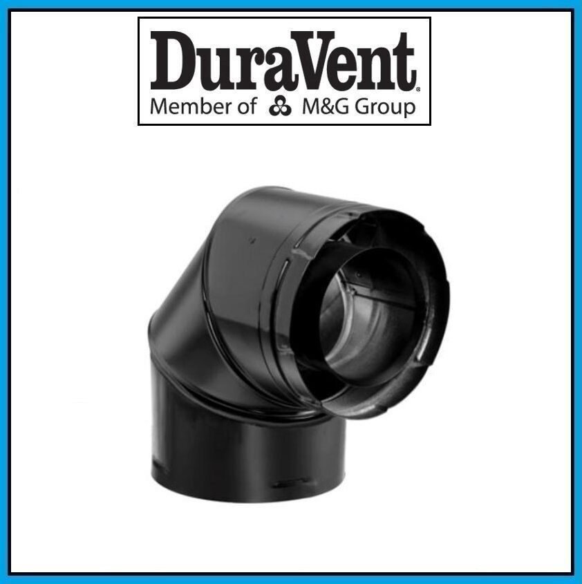 DuraVent DirectVent Pro 5  X 8  Negro 90 grados codo  58DVA-E90B