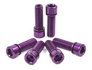 SHADOW-CONSPIRACY-HOLLOW-STEM-BOLTS-BMX-BIKE-BICYCLE-CULT-SE-SUBROSA-HARO-PURPLE