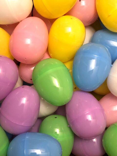 Lot of 20 Plastic Easter Eggs Pastel Colors Fillable Decorative Art Crafts 2019
