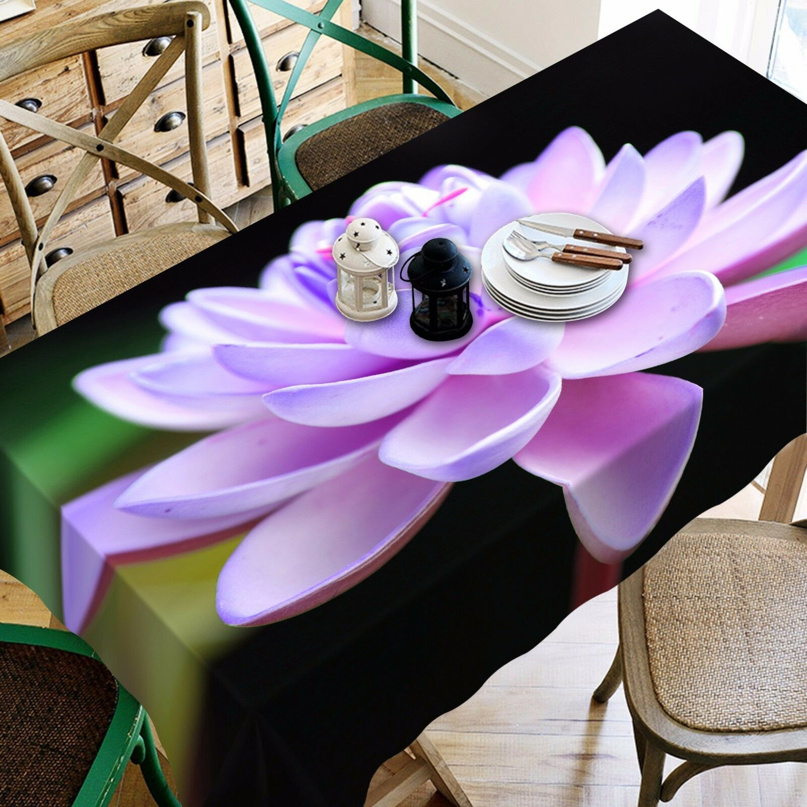 3D Flower 835 Tablecloth Table Cover Cloth Birthday Party Event AJ WALLPAPER UK