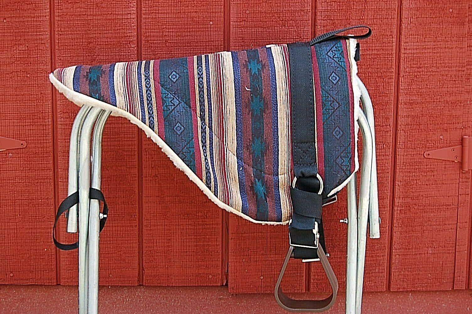BAREBACK SADDLE PAD MIDNIGHT Blau HORSE Größe ADJUSTABLE