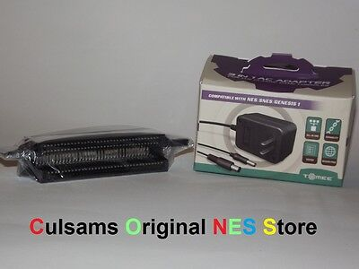 NINTENDO NES 72 PIN CONNECTOR & HEAVY DUTY AC ADAPTER POWER CORD WITH GUARANTEE
