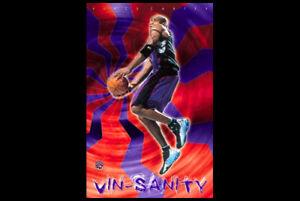 Vince-Carter-VIN-SANITY-2001-Toronto-Raptors-Vintage-Original-NBA-Wall-POSTER