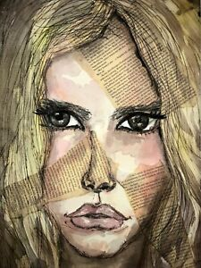Malerei-A3-PAINTING-contemporary-art-fashion-illustration-aquarell-frau-erotica
