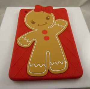 for-Ipad-mini-cover-gingerbread-girl-red-bow-brown-reds-cute-Christmas