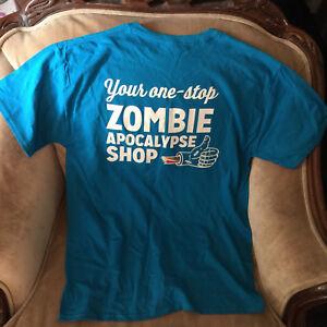 bd21f4066f091 Image is loading Attention-Kmart -Shoppers-Zombie-Apocalypse-Rare-Uniform-Blue-