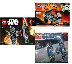 3xLEGO Star Wars Tie Jäger 30276 Erste Ordnung 8028 Imperial 30275 Advanced Prot
