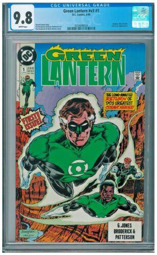 Green Lantern #1 v3 1990 CGC 9.8 White Batman Blue Beetle Fire /& Ice app