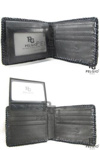 PELGIO Genuine Crocodile Alligator Foot Claw Skin Leather Handmade Wallet Black