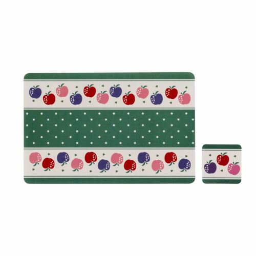 Candy Apple Set of 4 Placemats and Coasters
