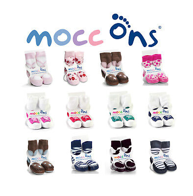 erstklassiger Profi sale 2019 heißer verkauf Mocc Ons Baby / Kleinkind Mokassin Hausschuhsocken mit Leder ...