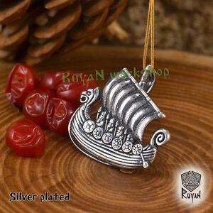 Drakkar-Pendant-Viking-Ship-Pendant-Viking-Necklace-viking-jewelry-Viking-Bronze