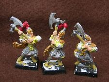 WARHAMMER  HIGH ELVES   WHITE LIONS x3  PAINTED