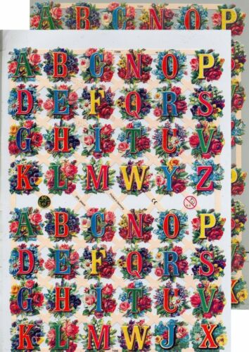 Chromo EF Découpis Lettres 7286 Embossed Illustrations Letters