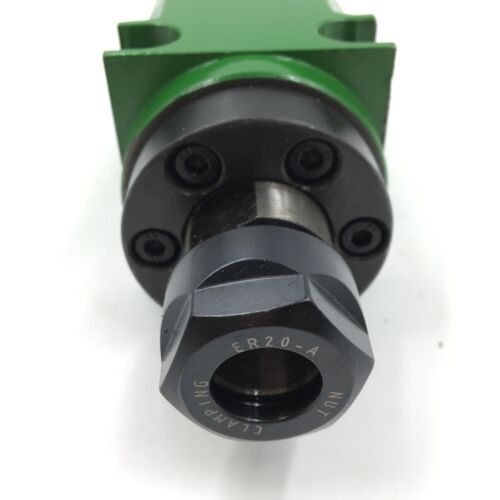 ER20 Power Head Boring Milling Spindle Head Unit 5000~6000rpm Waterproof 60mm